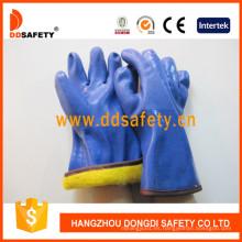 Guantes acabados Sandy azul PVC con acrílico Boa Liner Dpv212