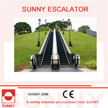Escada rolante ao ar livre com corrimão de borracha colorida, Sn-Es-Od036