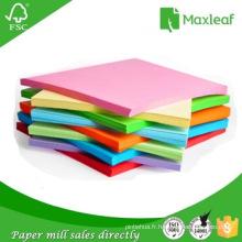 Papier coloré en format Letter A4 pour impression bureautique