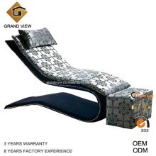 Tecido sofá cama mobília chinesa cadeira (GV-BS553)