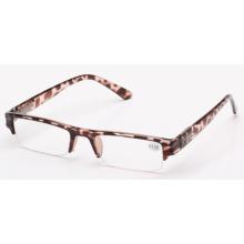 2015 new cheap half eye rimless frame reading glasses