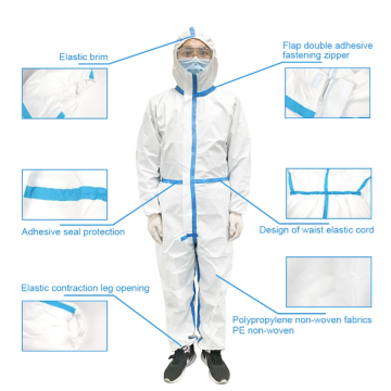 Ropa protectora Delantal Aislamiento desechable Impermeable
