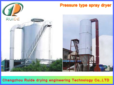 Herbicide spray drying tower
