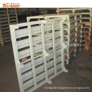 Standard size heavy duty single faced stackable iron steel pallets