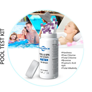 Pool test strips color chart