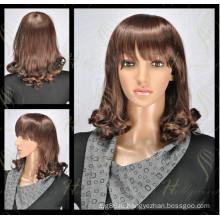 Глубокий вьющиеся синтетический парик популярные кружева перед парик (модель-ЕО-СО1)