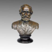 Busts Bronze Sculpture Musician Verdi Decoration Brass Statue TPE-623