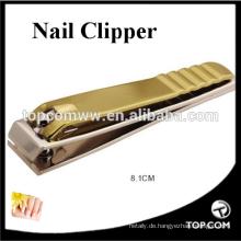 China Hersteller benutzerdefinierte Edelstahl Nagelknipser Gold Plated ManicureTools