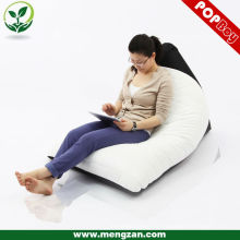 Sala de estar adulto bean bolsa reclinable lounger, Twisted cubierta bean bolso reclinable