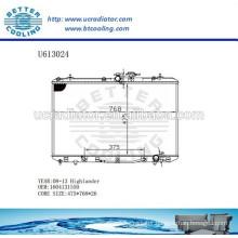 Aluminum Radiator For TOYOTA 08-13 Highlander 1604131550 Manufacturer and Direct Sale
