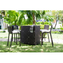 High Quality Poly PE Rattan Outdoor Furniture High Bar set