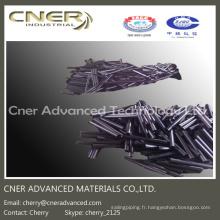 Tige courte de fibre de carbone de vente chaude, tubes de fibre de carbone Pultruded de calibre mineur