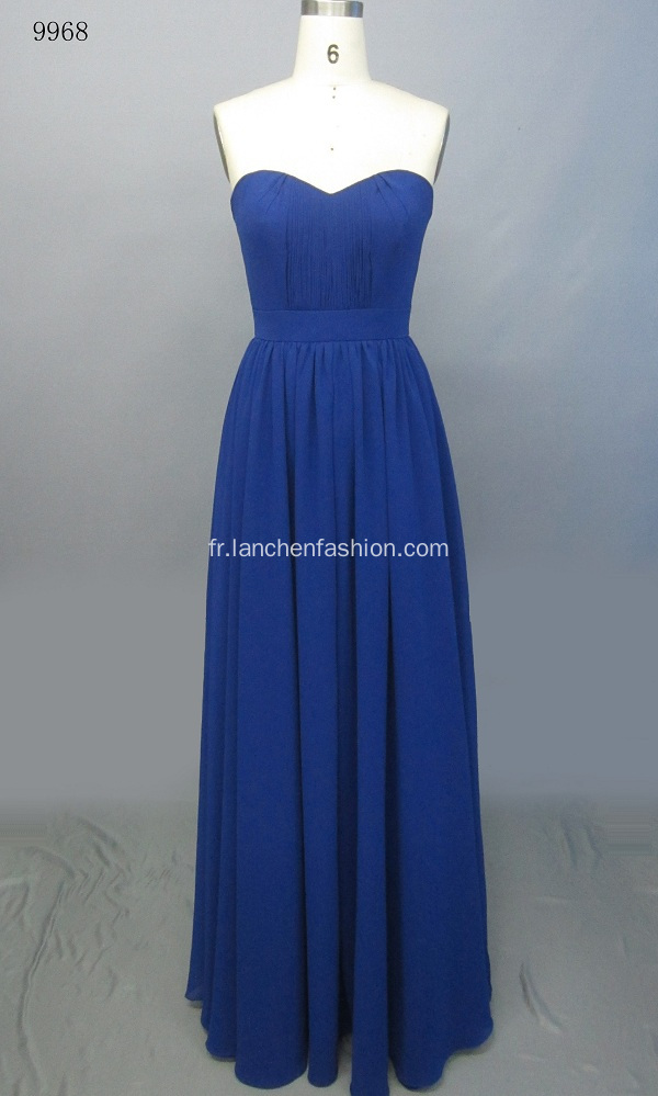 Royal au large d'épaule Long Maxi robes formelles