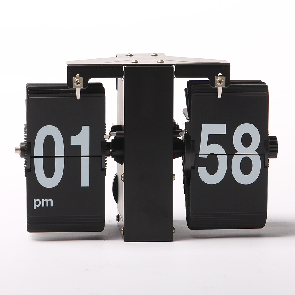 Mini-size LED Wall Flip Clock With Rectangular Cards