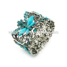 Vintage Bracelets de résine papillon de qualité supérieure Bangles Bracelets strass BA19