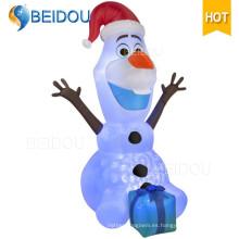 Personaje de dibujos animados Oso Gigante Santa Inflable Navidad Olaf