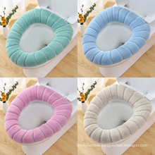 The manufacturer sells the overstuffed toilet seat cushion in winter with handle soft and washable universal Nordic wind sitting