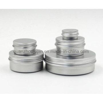 OEM High Quality Aluminum Wax Cream Cosmetic Jar with Cap