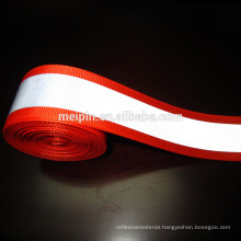 Red reflective tape 50mm/5mm , reflective webbing