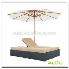 Audu Хороший тканый ротанг со шпателем с навесом