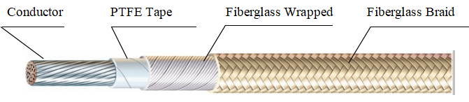 Teflon Insulated Glass Fibre Braid Wire