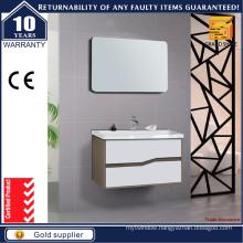 Hot Selling Curved Shape Handle Bathroom Vanities with Mirror