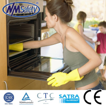 NMSAFETY waterproof latex glove/washing gloves/yellow latex household glove