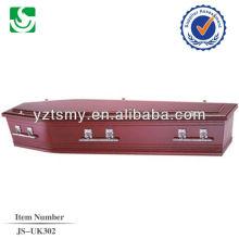 vente en gros de cercueil humaine chêne de style européen, fabriqué en Chine
