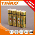 super heavy duty 1.5v size aaa R03P carbon zinc battery in shrink