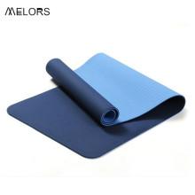 Tapete anti-derrapante ecológico 6 MM de dupla camada TPE para ioga