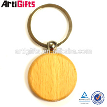 Llavero de madera de los regalos promocionales baratos