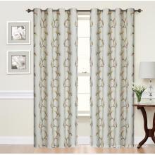 Panneau de rideau occultant Jacquard 100% polyester