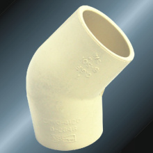 ASTM D2846 إمدادات المياه Cpvc Elbow45 ° Milk Yellow