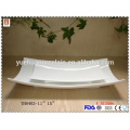 White big size ceramic dinner plates with cheap price