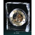 Simple Crystal Desk Clock Decoration Glass Clock