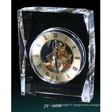 Horloge en verre simple décoration de bureau en cristal