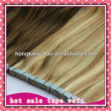 trama de la cinta del pelo humano para la extensión, precio barato, al por mayor