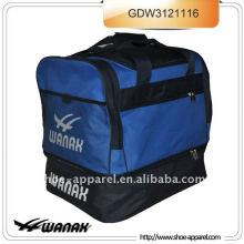 Football bag with folding botton for soccer
