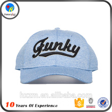 New Customized Embroidery Baseball Cap in 100% polyester