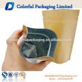 Canto redondo ou papel comum de Kraft / malote do empacotamento de Al / PE para o café ou o outro