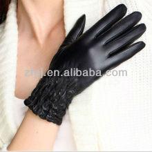 2012 guantes de cuero de la señora de la manera karachi