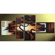 Gruppe moderne schöne Landschaft Ölgemälde