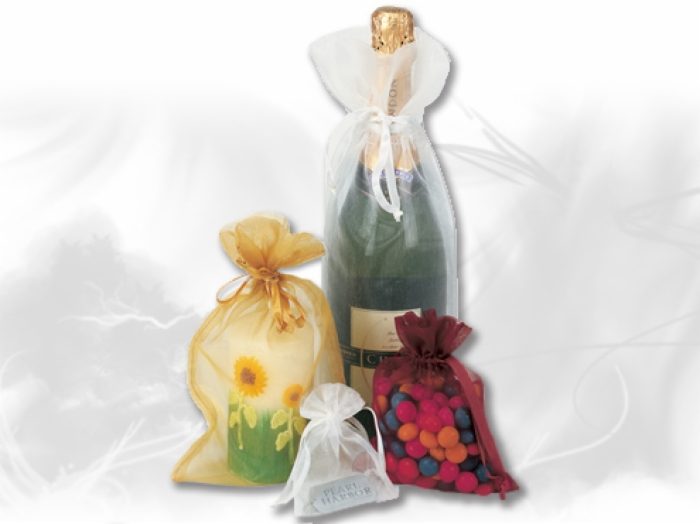 Eco-friendly cheap wine organza pouch