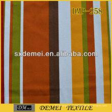 vente de tissu poly coton toile rayée
