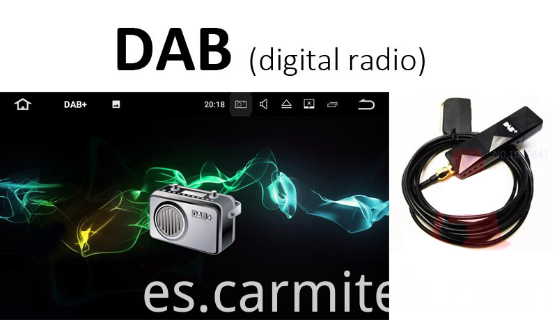 dab 2 din car radio Android Audi A3 S3