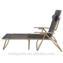 Dobrável Ajustável Fácil Relaxar Cadeira Dobrável Praia Chaise Lounge Chair
