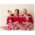 La fábrica al por mayor de China suministra pijamas de la Navidad del algodón del 100% los cabritos pijamas de la Navidad en color rojo y blanco