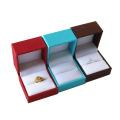 Caixa de jóia original do couro do plutônio do Aquamarine