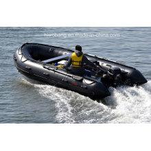 Barco de resgate grande 26 pés, barco inflável, remo, pesca de barco, barco de transporte