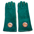 Gants de protection à main en cuir coupé en fourrure de 16 pouces pour soudure